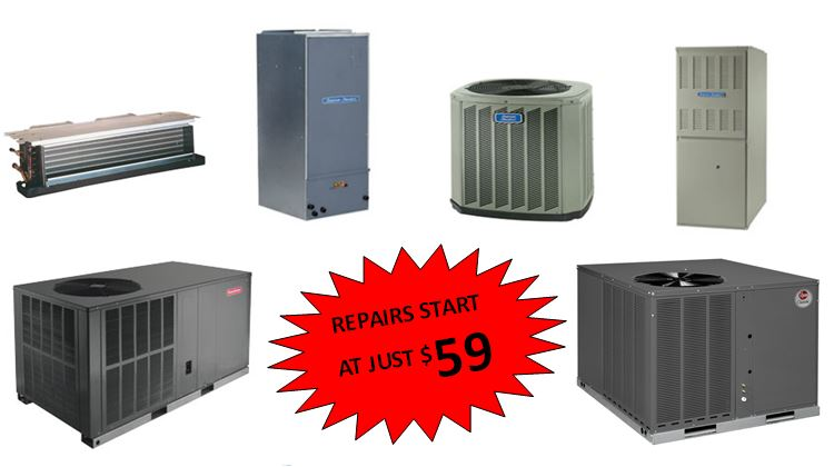 HVAC repairs start at just $59