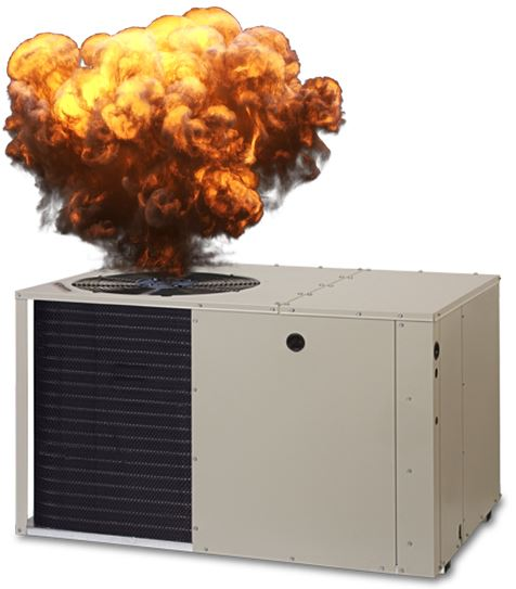 flaming air conditioner