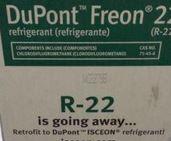 Freon 22 box warning