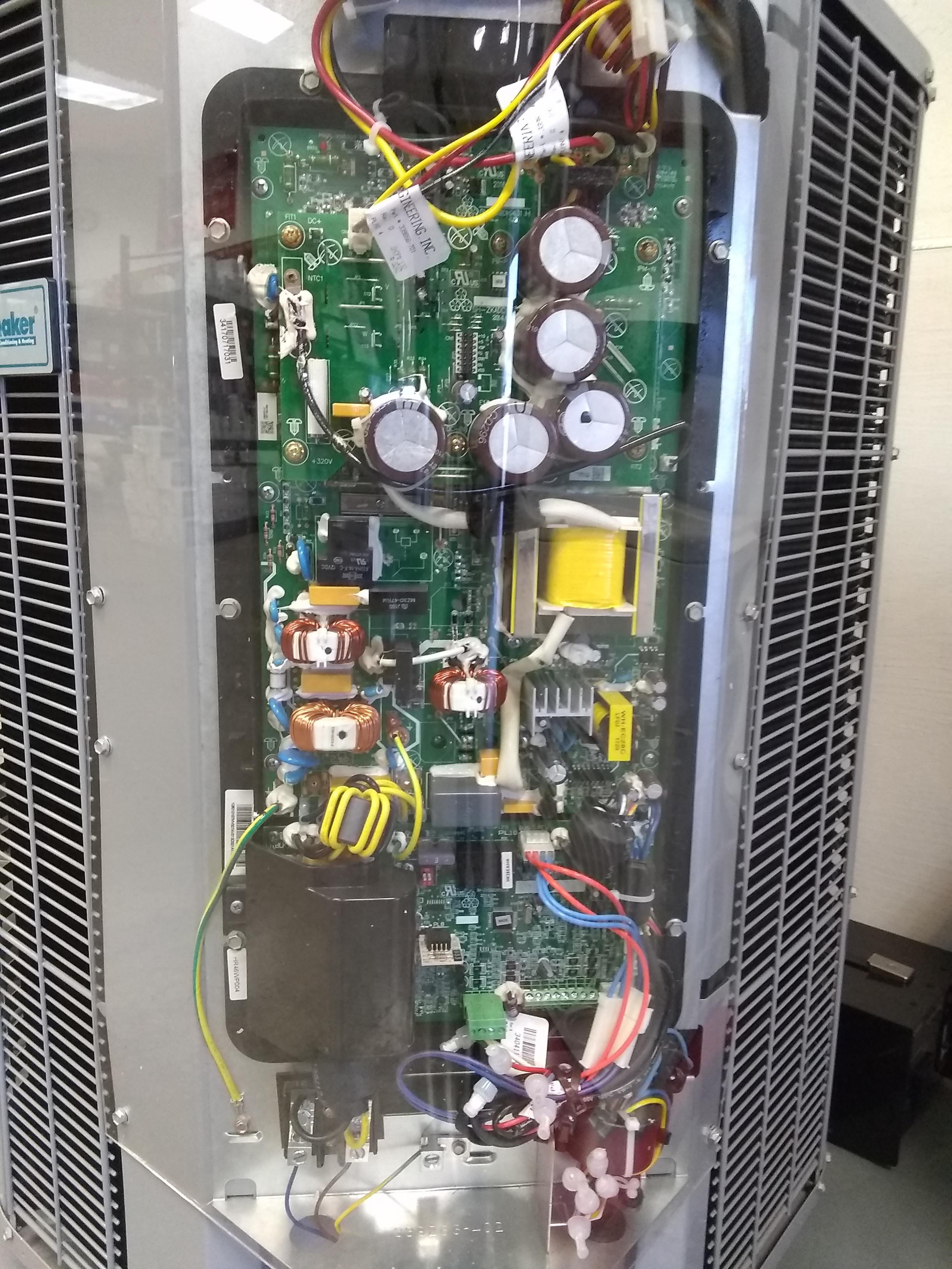 inverter circuit board inside high efficiency ICP heat pump unit
