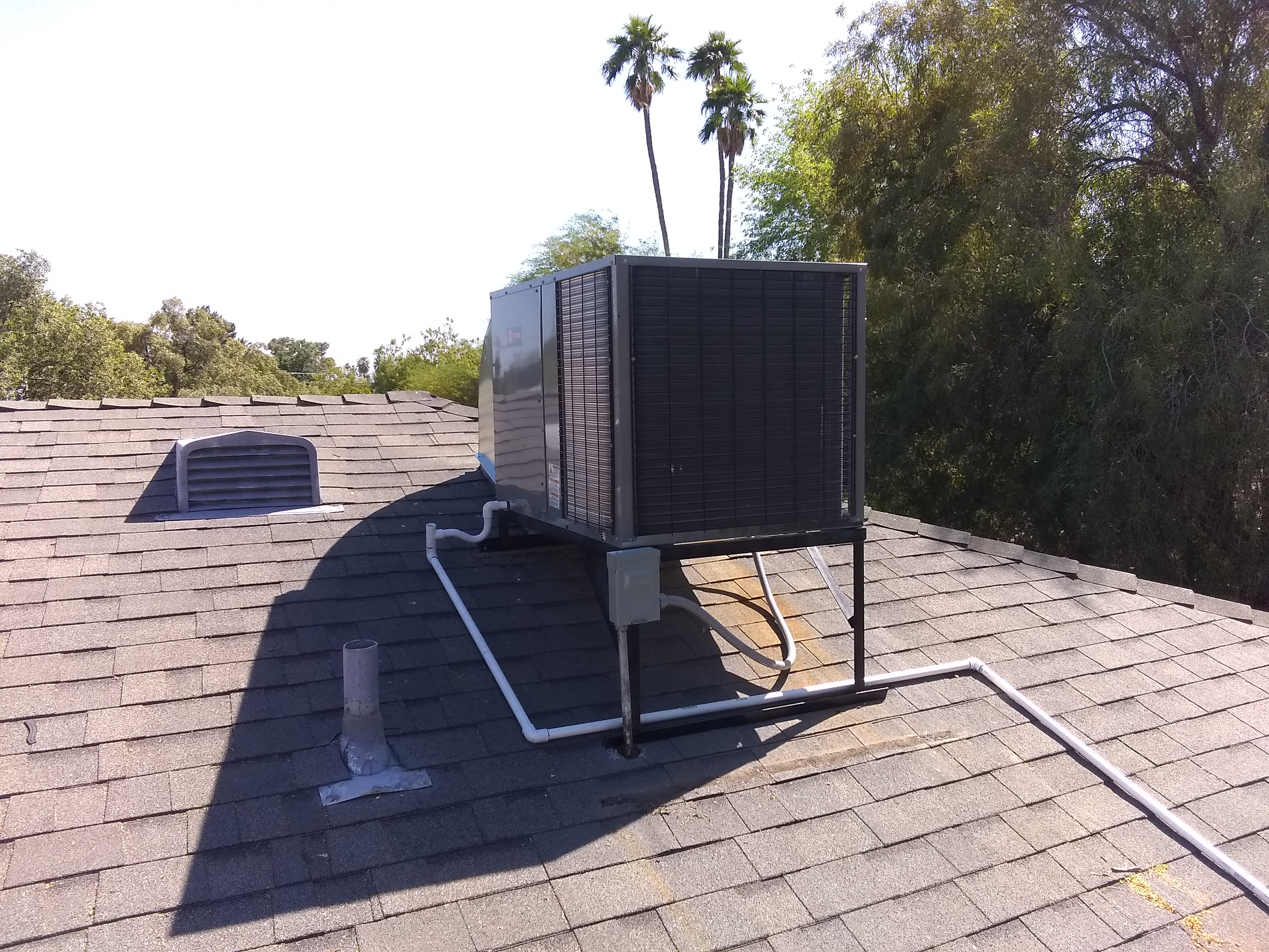 Over / under Trane unit is a great choice for replacing old Goettl units