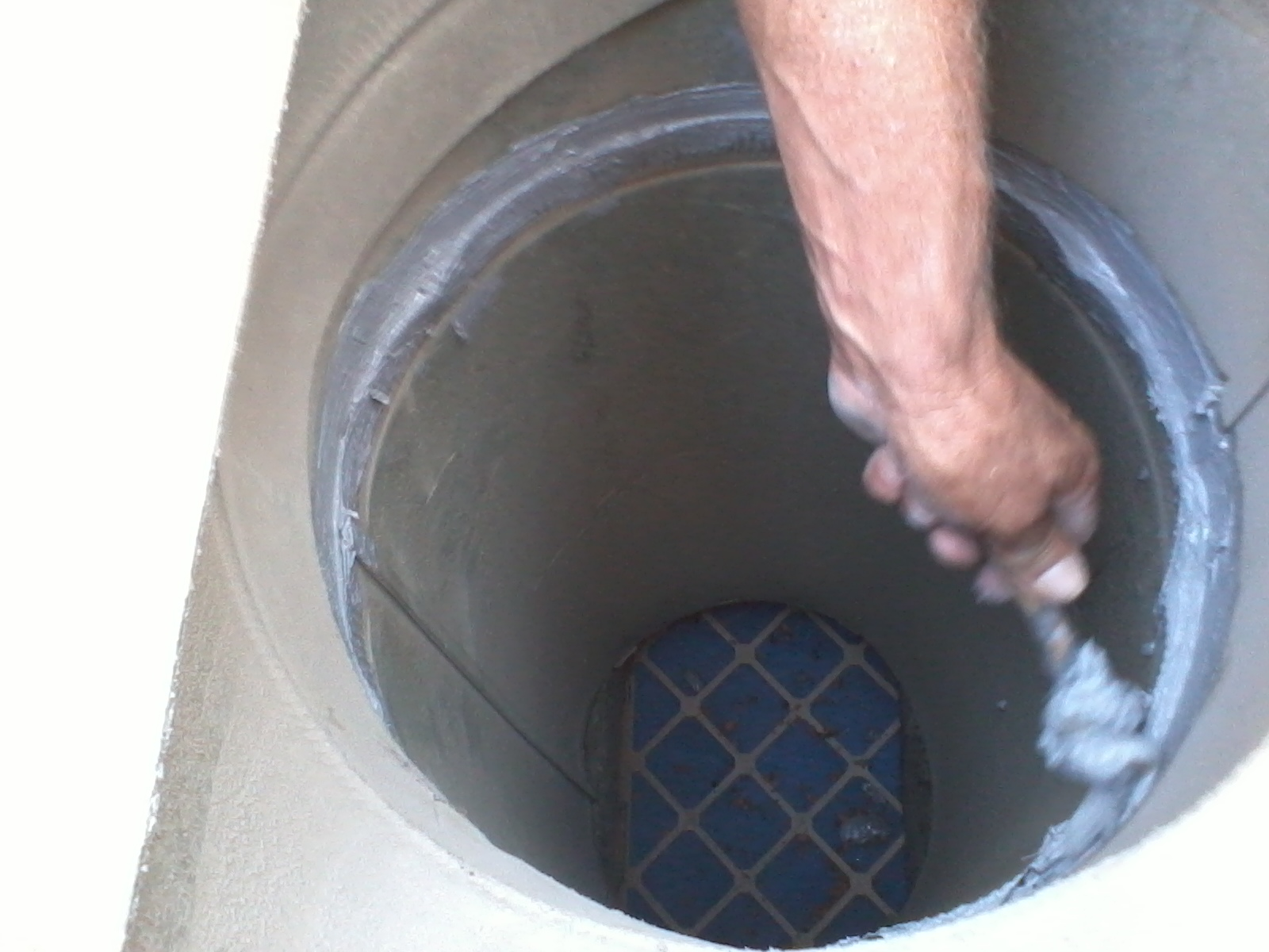We seal all duct connections like this with an approved duct sealant